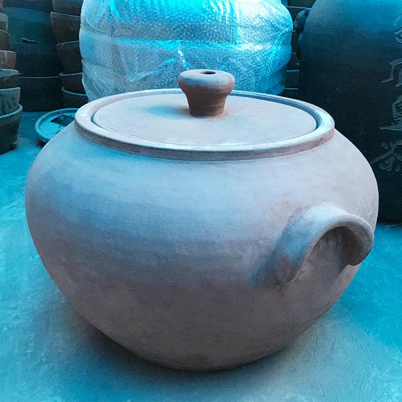 大耳紫砂壶  土陶工艺品