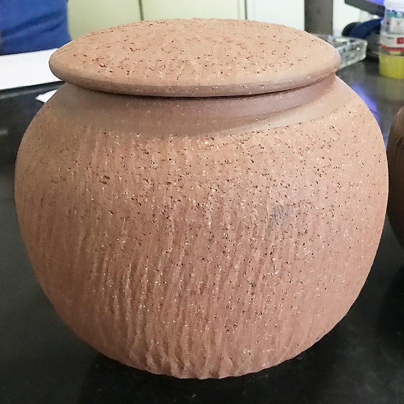 紫砂茶罐  土陶工艺品